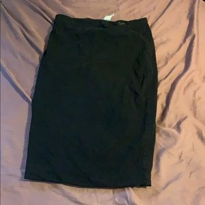 H&M basic size s small black stretch skirt elastic